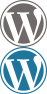 Wordpress logo with link to Stuart Nurse's artist's Wordpress blog